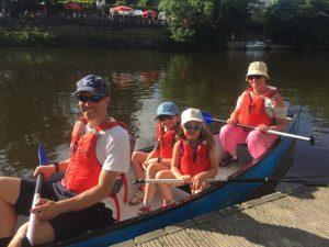 Family canoe Hire at Quarry Park Shrewsbury