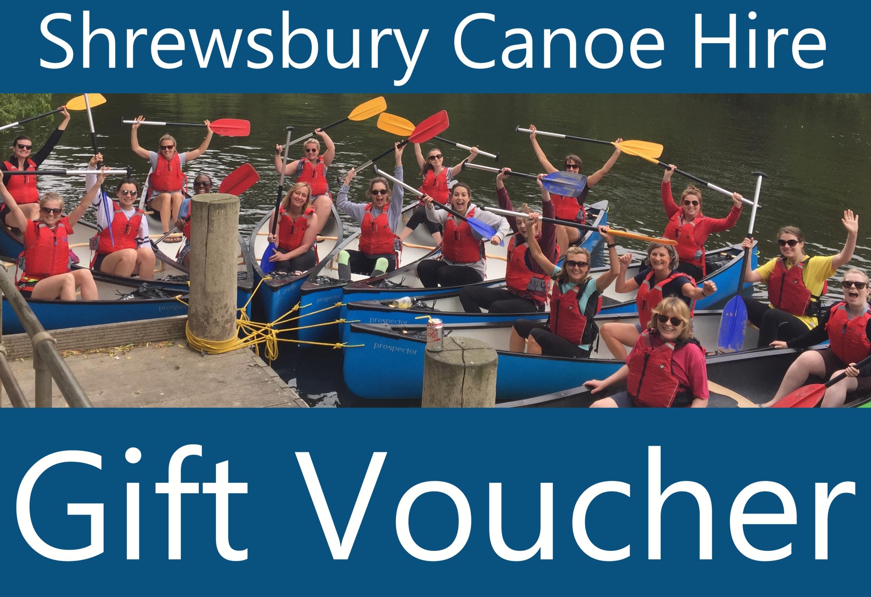 Full Day Canoe Hire Gift Voucher