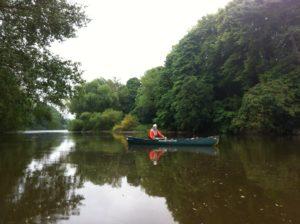 River Severn along wooded banks