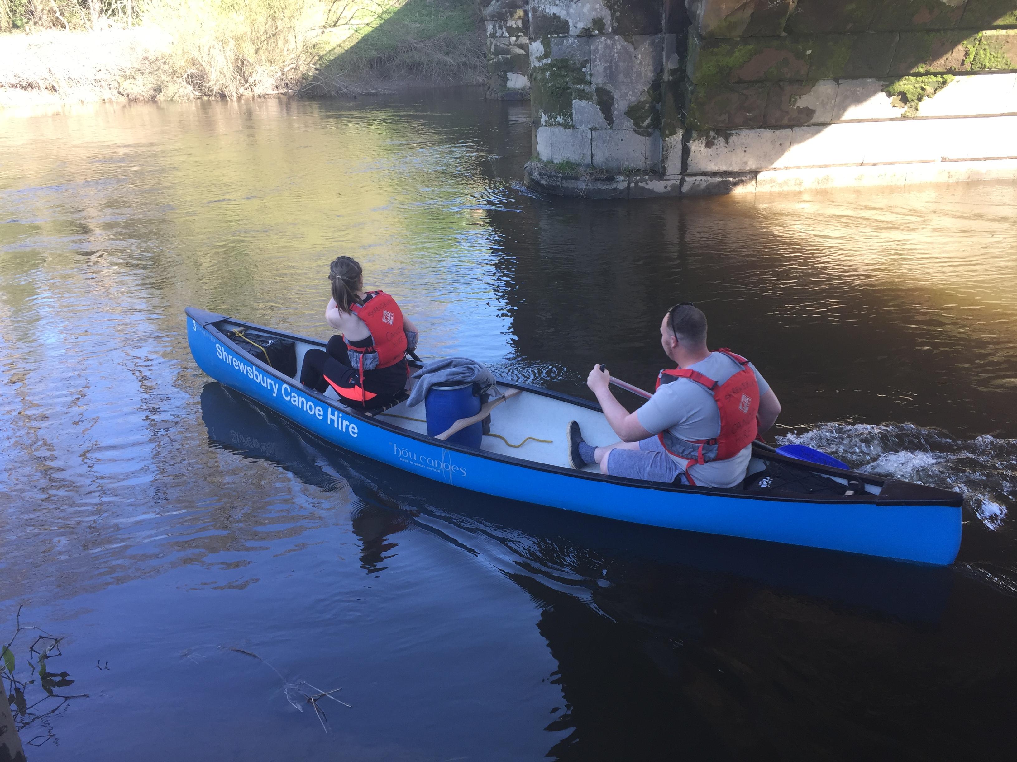 Canoe Hire from Pool Quay to Shrewsbury multi day canoe hire